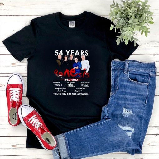 54 Years Genesis 1967 2021 thank you for the memories signature shirt 5