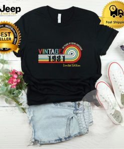 40 Year Old Vintage 1981 Limited Edition Funny 40th Birthday T Shirt