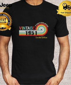 70 Year Old Vintage 1951 Limited Edition Funny 70th Birthday T Shirt