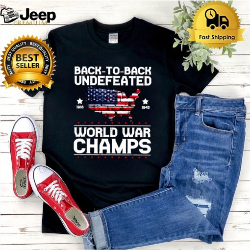 Back To Back Undefeated World War Champs American Flag T Shirt
