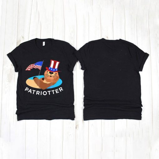 Cute USA Patriotter Animal July 4Th Otter T shirt