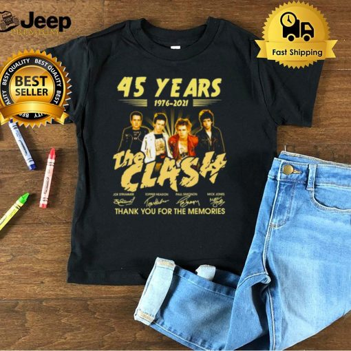 45 Years 1976 2021 The Clash Signature Thank You For The Memories T shirt (1)
