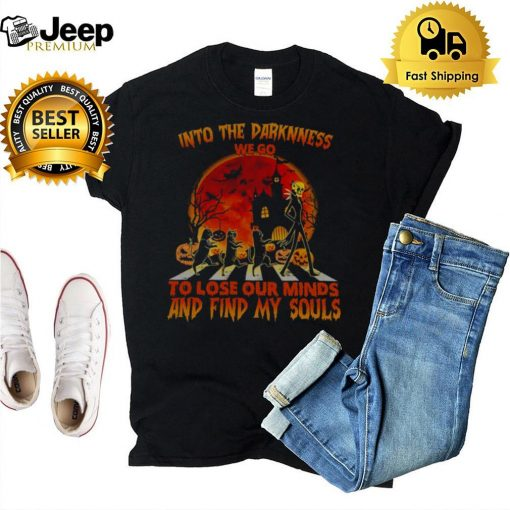 Jack Skete Black Cat Into Darkness We Go To Lose Our Minds And Find Our Souls Sunset Shirt