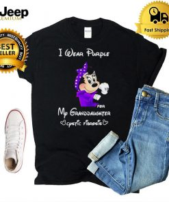 Mickey I Wear Purple For My Granddaughter Cystic Fibrosis T shirt