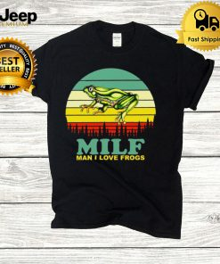 Milf Man I Love Frogs Vintage Retro T hoodie, tank top, sweater and long sleeve