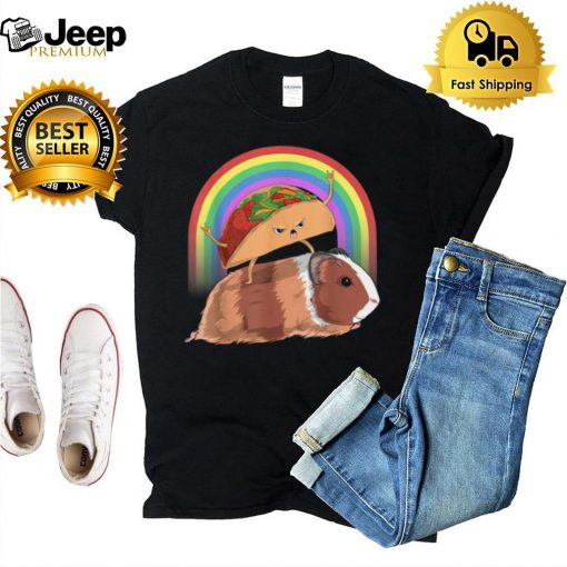 Taco Riding Guinea Pig Rainbow Cute Mexican Food hoodie, tank top, sweater and long sleeve