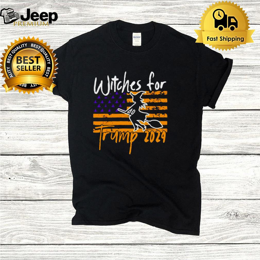 American Flag Witches For Trump 2024 Halloween T hoodie, tank top, sweater and long sleeve