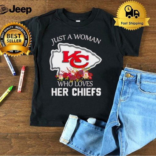 Just a woman who loves her Chiefs shirt