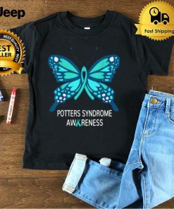 Potters Syndrome Awareness Butterfly Shirt
