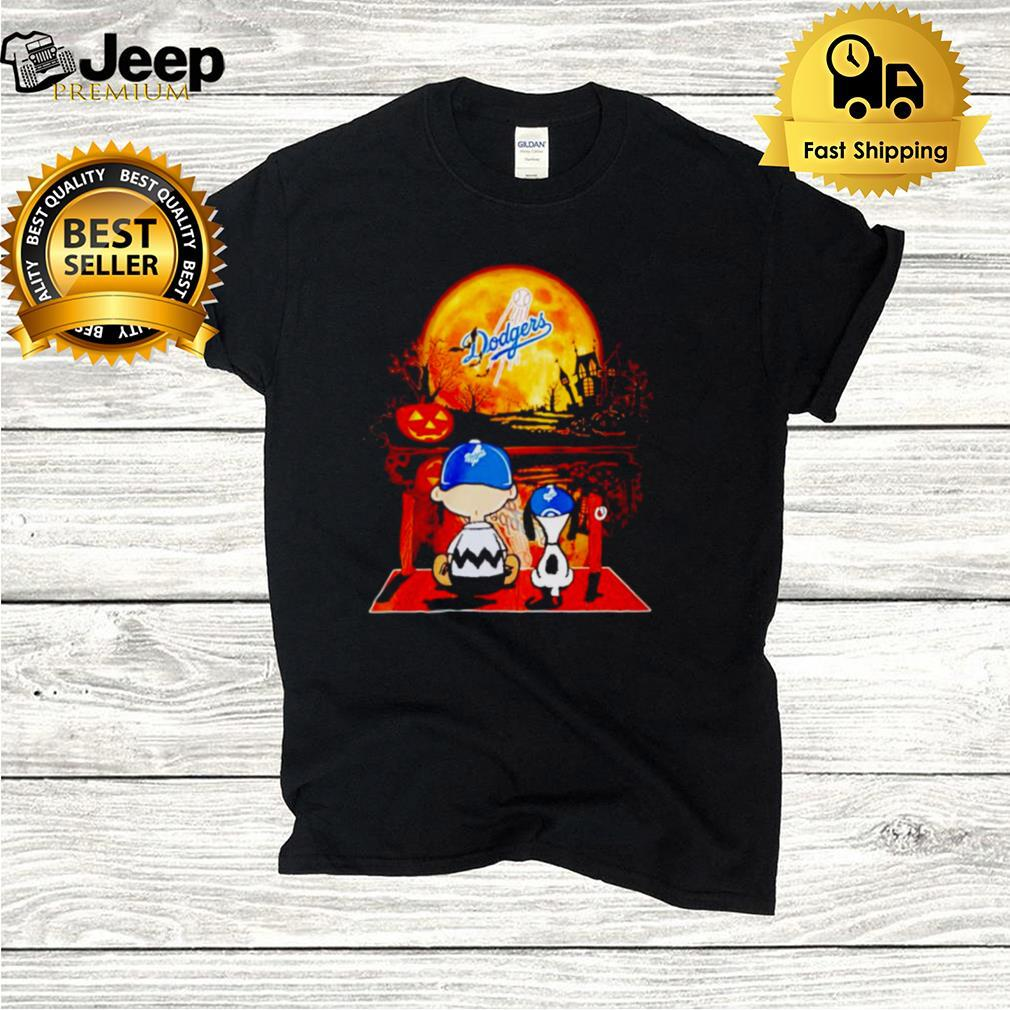 Snoopy and Charlie Brown Los Angeles Dodgers happy Halloween shirt