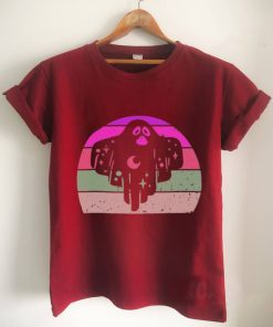 Vintage Halloween Party Retro Ghost Sunset 80s 90s Shirt